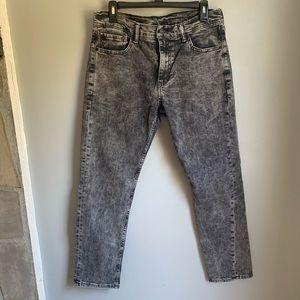 Men's Levi's 511 Black Acid Wash Jeans 33x30